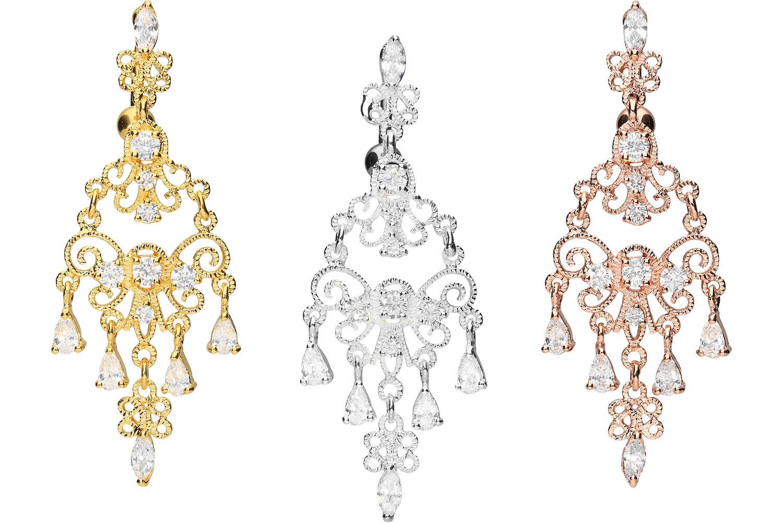 Bauchnabelpiercing Bananabell mit Brass-Design ORIENTALSCHES DESIGN Kristall