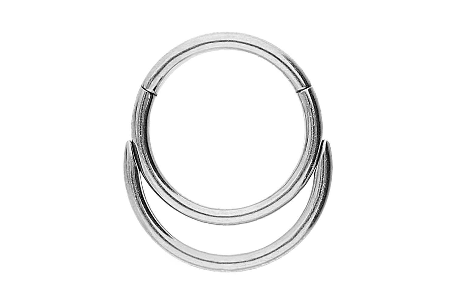Surgical Steel Segment Ring Clicker Double Ring Piercings